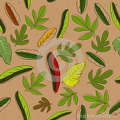 Seamless texture with leaves