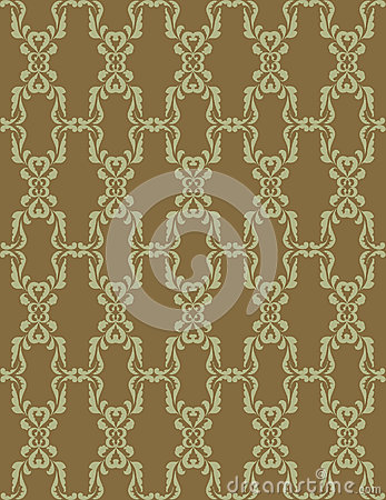 Seamless texture with light green floral ornament