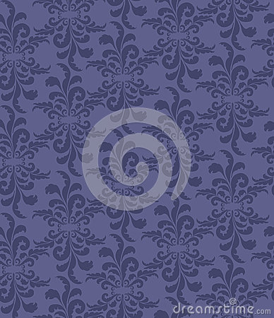 Seamless texture with lilac floral ornament