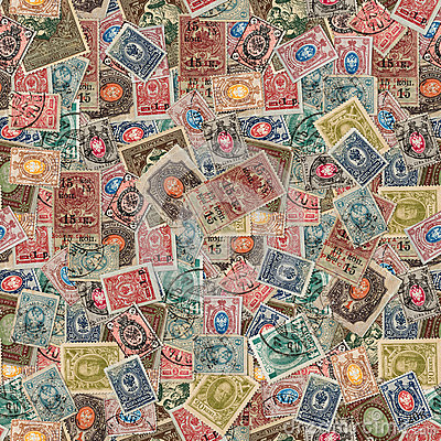 Free Seamless Texture Of Postage Stamps. Stock Image - 33675261