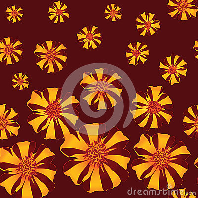 Seamless texture with red stripy flower ornament