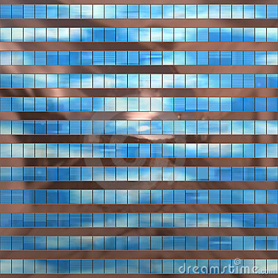 Seamless texture resembling skyscrapers windows