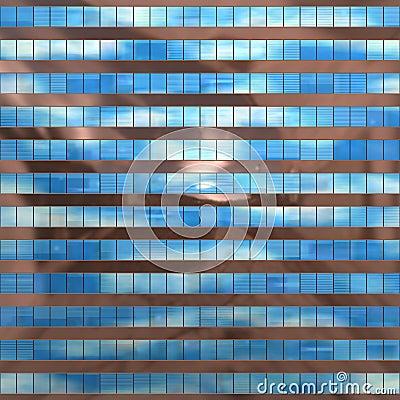 Seamless texture resembling skyscrapers windows