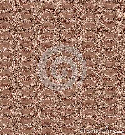 Seamless texture with segmet ornament