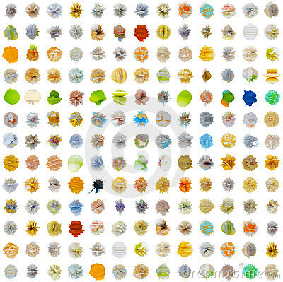 Seamless texture - set of abstract substances