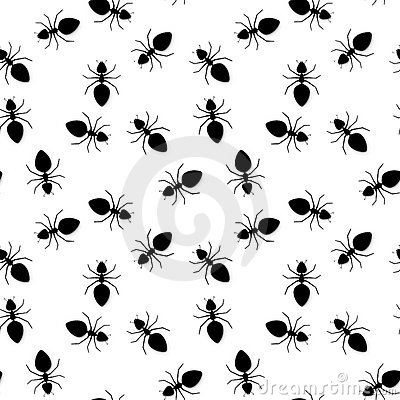 Seamless texture - silhouettes of ants