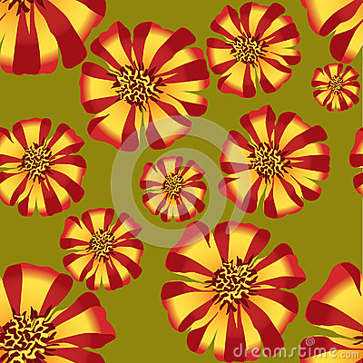 Seamless texture with stripy flower ornament