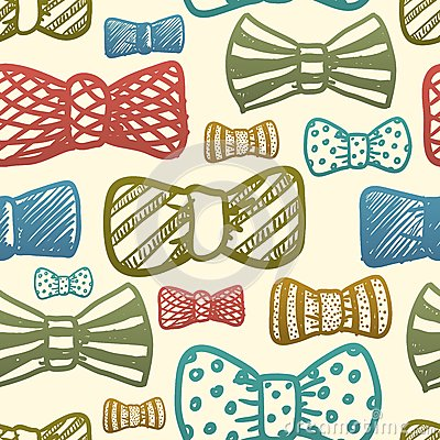 Seamless texture with vintage bows
