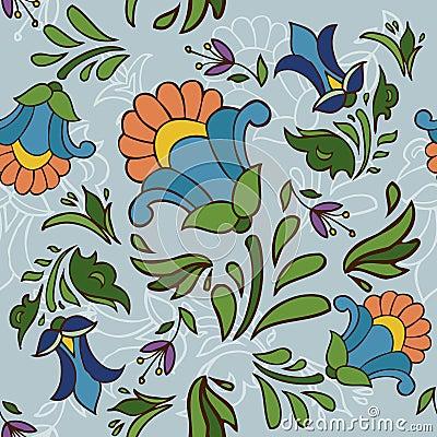 Seamless texture of vintage flowers