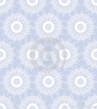 Seamless texture with white snowflakes