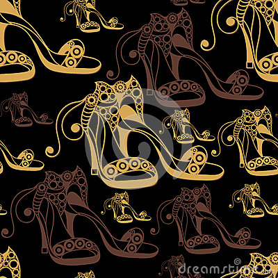 Free Seamless Texture With Decorative Shoes 14 Stock Image - 92344701