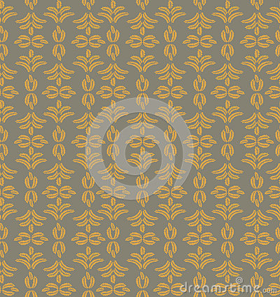 Free Seamless Texture With Floral Ornament Royalty Free Stock Images - 26132969
