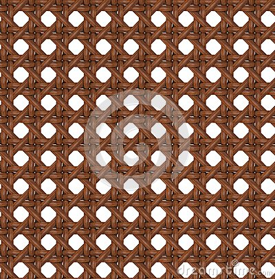 Seamless Texture of Wooden Brown Rattan.