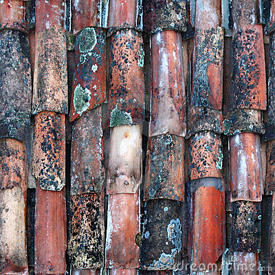 Seamless tile pattern of ancient ceramic tiles
