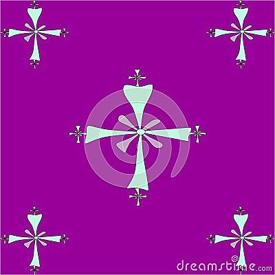 Seamless tile pattern of  Coptic crosses