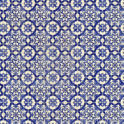 Free Seamless Tile Pattern Of Ancient Ceramic Tiles Royalty Free Stock Photo - 8810625