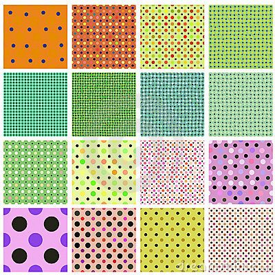 Seamless tiling dot pattern collection