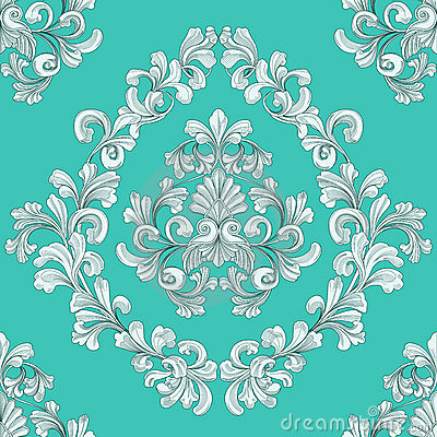 Free Seamless Tiling Floral Wallpaper Pattern Stock Image - 10874801