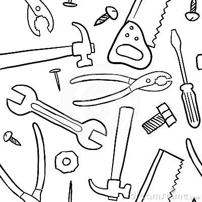 Seamless tools vector background