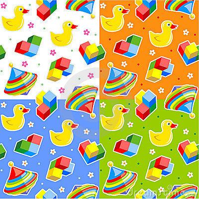 Seamless toys patterns