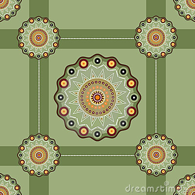 Seamless tracery in ethnic style