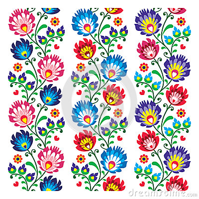 Free Seamless Traditional Folk Polish Pattern Seamless Royalty Free Stock Photos - 38746598