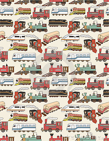 Seamless Trains pattern