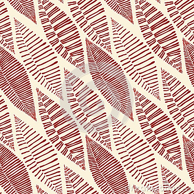 Seamless Tribal Pattern Leaves Skeleton