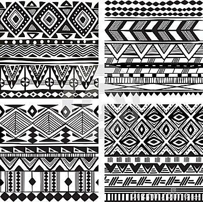 Free Seamless Tribal Texture Royalty Free Stock Photos - 31393618