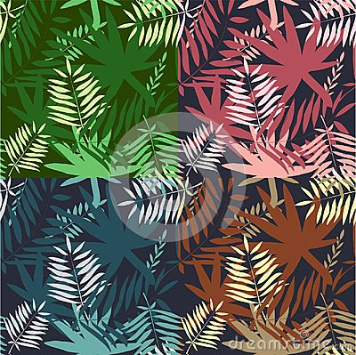 Free Seamless Tropical Pattern. Leaves Palm Tree Illustration. Modern Graphics. Royalty Free Stock Photography - 101421737