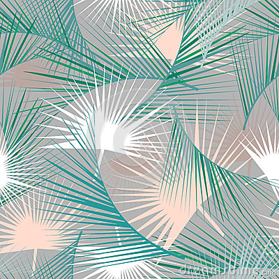 Free Seamless Tropical Pattern With Green Palm Leaves. Jungle Texture. Perfect For Wallpapers, Pattern Fills, Web Page Backgrounds. Royalty Free Stock Image - 73804946