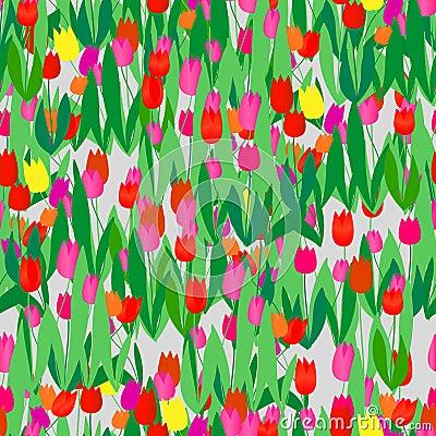 Seamless tulip pattern