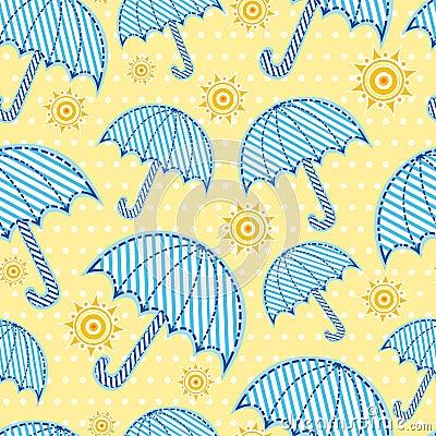 Seamless umbrella pattern