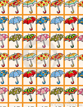 Seamless Umbrellas pattern