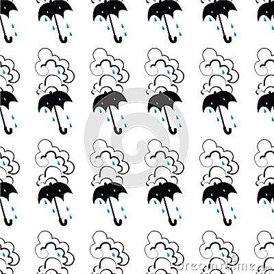 Seamless Unbrella Pattern