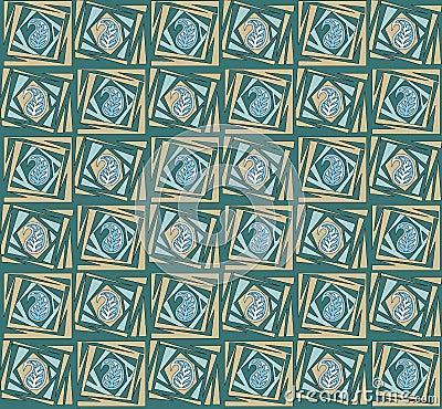 Seamless unique paisley pattern Stock Photo