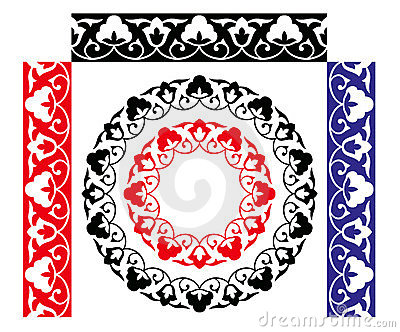 Seamless uzbek traditional pattern