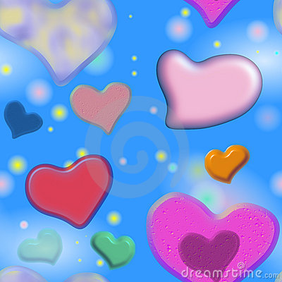 Free Seamless Valentine Hearts Stock Photography - 6149082