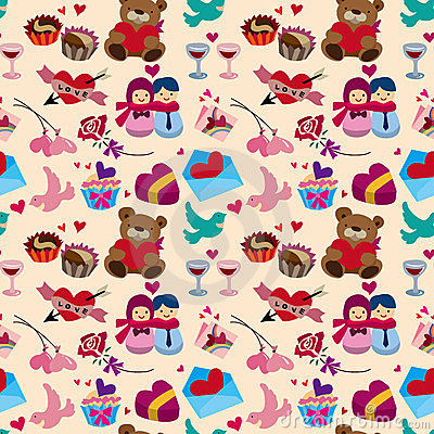 Seamless Valentine s Day pattern