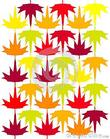 Seamless vector autumn maple background