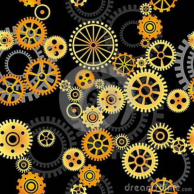 Seamless vector background - gears