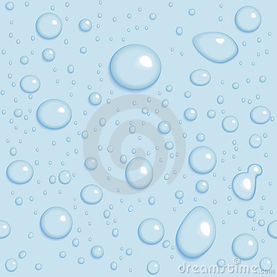 Seamless vector background. Light blue drops