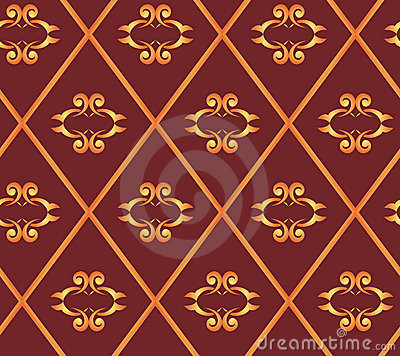 Seamless vector brown texture with rhombuses