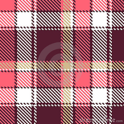 Seamless vector checkered pattern