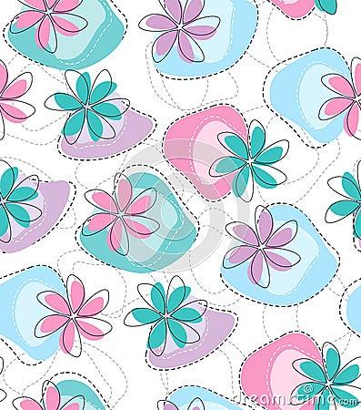 Seamless vector fancy flower wallpaper