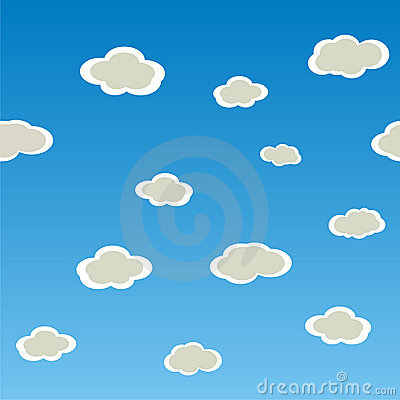 Seamless vector horizontal  texture with clouds