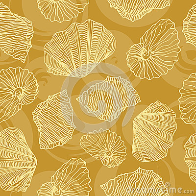 Free Seamless Vector Pattern In Shells Royalty Free Stock Photo - 37803105
