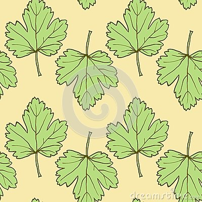 Seamless vector pattern with leaves