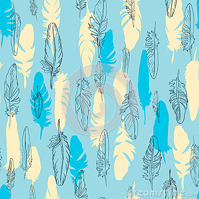 Seamless vector pattern of plume