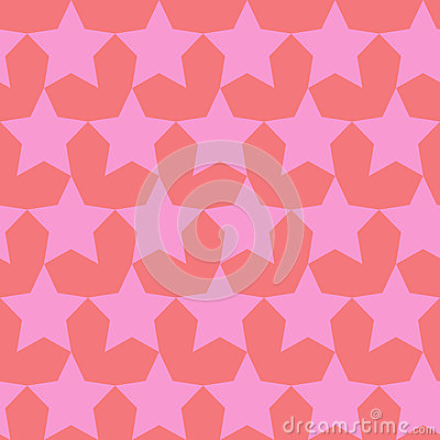Free Seamless Vector Pattern With Stars And Hearts. Stock Photography - 55004042